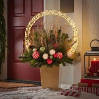 Member's Mark Pre-Lit Topiary with Microlight Sphere (Red/Gold)