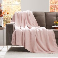 Member's Mark Luxury Premier Collection Cozy Knit Heathered Throw (Assorted Colors)