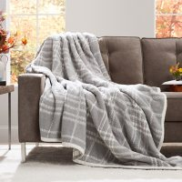Member's Mark Luxury Premier Collection Cozy Knit Quinn Plaid Throw (Assorted Colors)