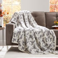 Member's Mark Luxury Premier Collection Cozy Knit Camouflage Throw (Assorted Colors)