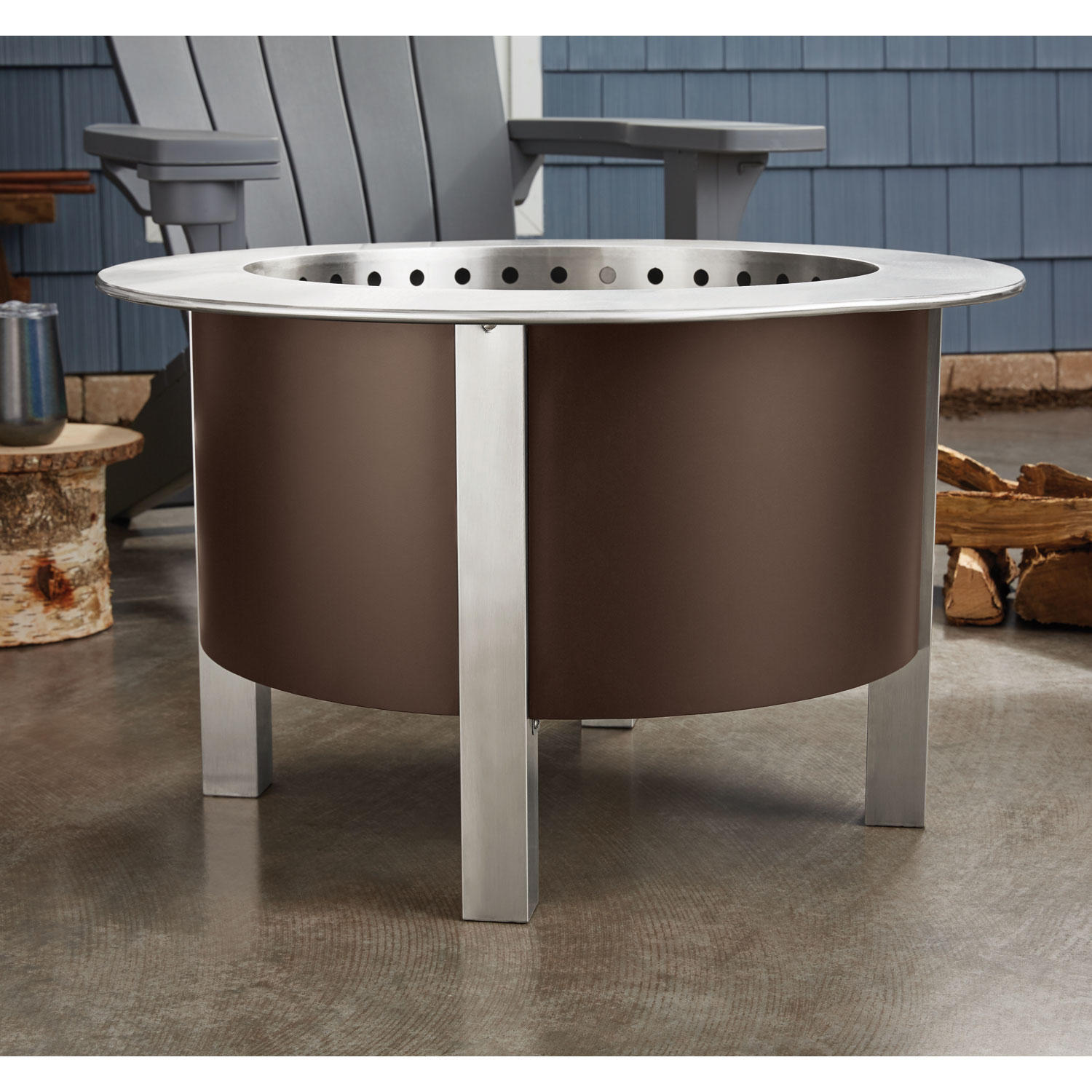 Member's Mark Smokeless Wood-Burning Fire Pit with 304 Stainless Steel Fire Bowl