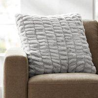 "Member's Mark Luxury Faux Fur Pillow 22""x22""(Assorted Colors)"