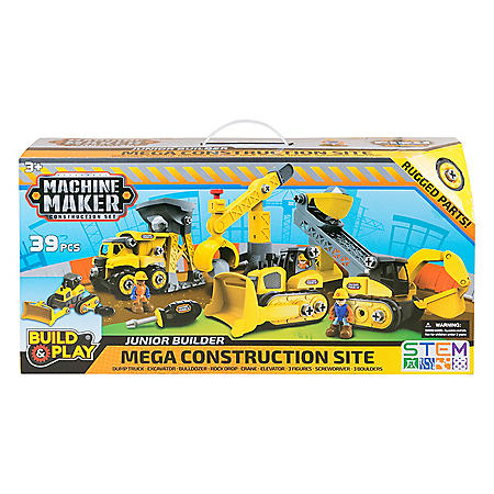 Machine Maker Construction Site Club Pack 39-Piece