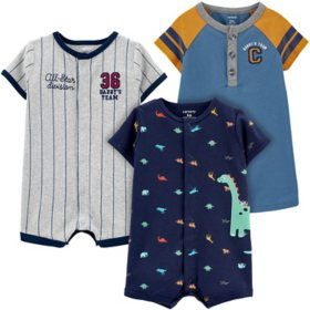 Carter's Boy's 3pk Sunsuits & Rompers
