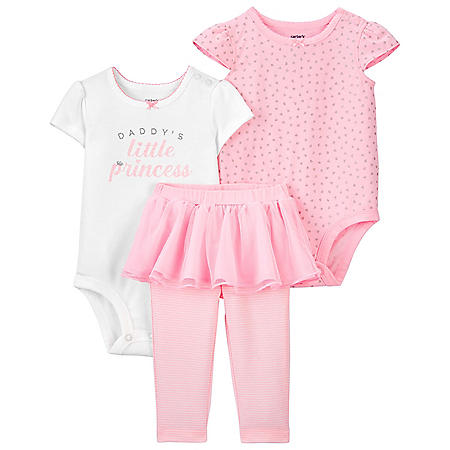 Carter's Girls' 3-Piece Bodysuit Pant Set
