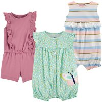 Carter's Girl's 3pk Sunsuits & Rompers