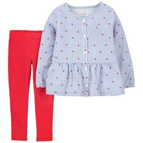 Carter's Girls' 2-Piece Playwear Set