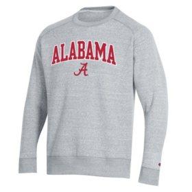 Champion Men's NCAA Arch Over Logo Crew Neck Fleece Sweatshirt