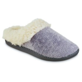 Isotoner Women's Chenille Sage Hoodback Slippers