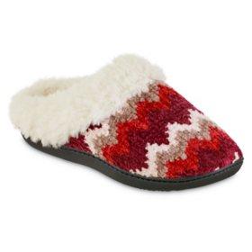 Isotoner Women's Chenille Sage Hoodback Slippers