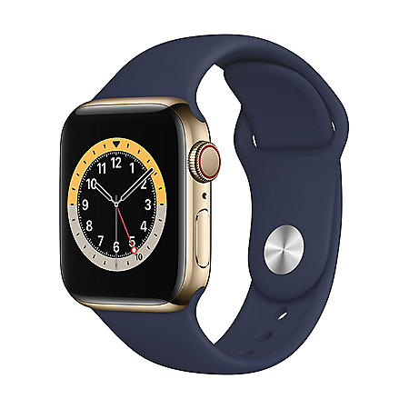 Apple Watch Series 6 Stainless Steel Case with Sport Band 40mm GPS + Cellular (Choose Color)