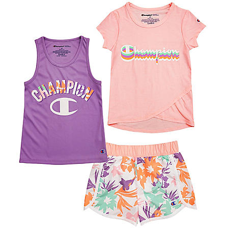 Champion 3-Piece Set, Pink and Purple Floral