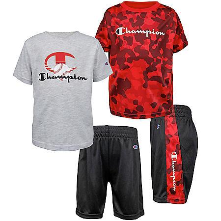 Champion 3-Piece Boys' Shirt and Short Set