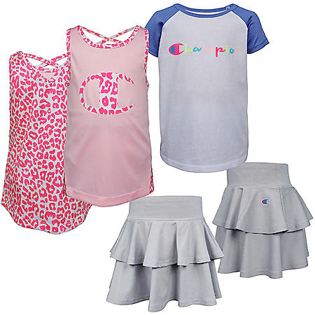 Champion 3-Piece Girls' Shirt and Short Set