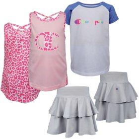 Champion 3-Piece Girls' Shirt and Short Set