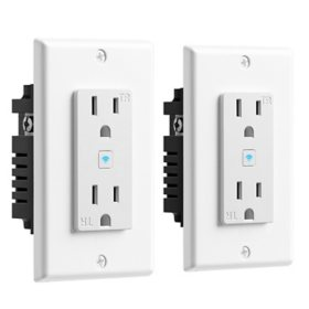 Geeni Current Smart Wi-Fi  2 Outlet In-Wall Smart Plug (2 Pack)