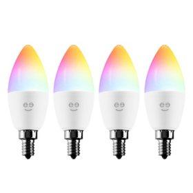 Geeni Prisma Plus Candle Smart Wi-Fi Multicolor Candle Bulbs (4-Pack)