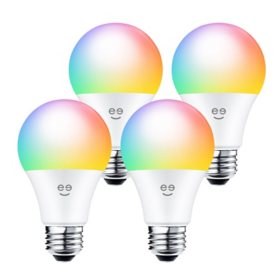 Geeni PRISMA PLUS 800 A19 Smart Wi-Fi Multicolor LED Light Bulbs (4-Pack)