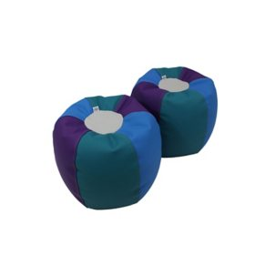SoftScape Bean Bag Puffs, 2-Pack (Assorted Colors)