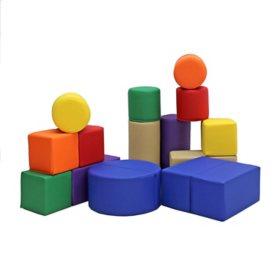 SoftScape 14-Piece Big Block Mixed Shape Set,  Assorted Colors