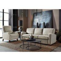 Drexel Lawrence Sofa, Cream Fabric Upholstery