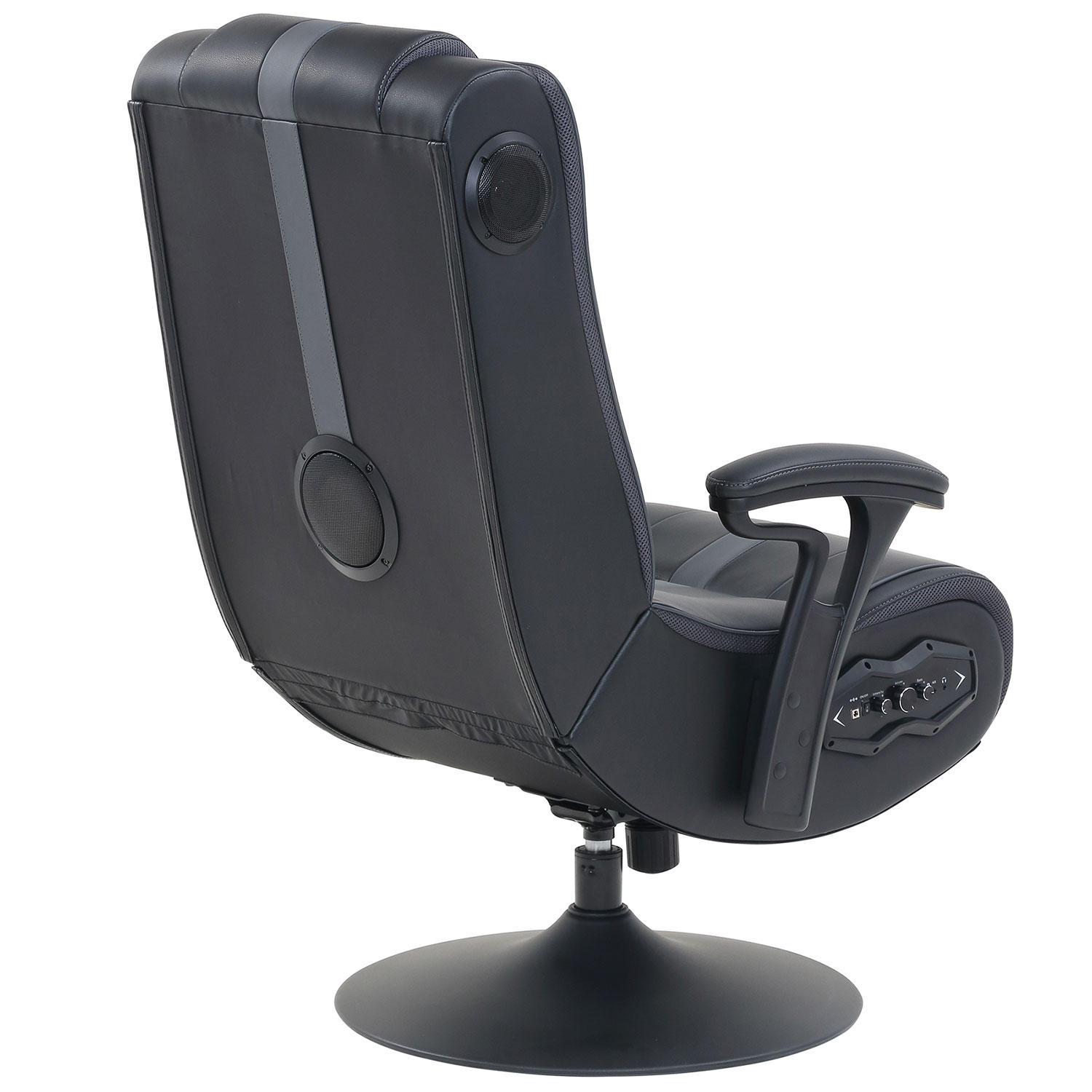 True Innovations 51579EC Pedestal Gaming Chair with Built in Sound and Vibration System