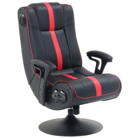 Pedestal Gaming Chair with Built in Sound and Vibration System, Assorted Colors