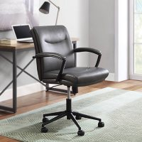 Serta Modern Task Chair, 225 lbs, Faux Leather Upholstery, Assorted Colors