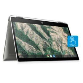 "HP - x360 - 14"" HD 2-in1 Touchscreen Chromebook - Intel Celeron N4000 -  4GB Memory - 64GB eMMC - 2 Year Warranty Care Pack - Chrome OS"