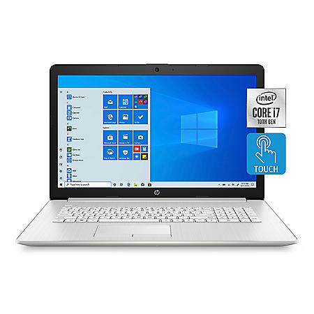 """HP - 17.3"""" HD+ Touchscreen Laptop - 10th Gen Intel Core i7-  8GB Memory - 512GB Solid State Drive - Numeric Keypad - DVD-Writer - 2 Year Warranty Care Pack - Windows 10 Home"""