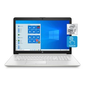 "HP - 17.3"" HD+ Touchscreen Laptop - 10th Gen Intel Core i7-  8GB Memory - 512GB Solid State Drive - Numeric Keypad - DVD-Writer - 2 Year Warranty Care Pack - Windows 10 Home"