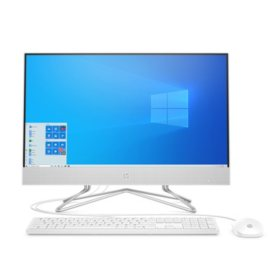 "HP - 23.8"" All-in-One Desktop -  AMD Ryzen 3 3250U Processor -  8GB Memory - 1TB Hard Drive - USB White Wired Keyboard and Mouse Combo - HP Privacy Camera - 2 Year Warranty Care Pack - Windows 10 Home"