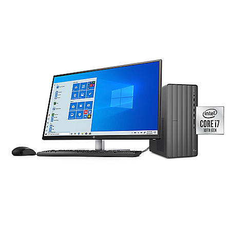 """HP - ENVY - 32"""" Desktop Bundle - 10th Gen Intel Core i7 - 8GB RAM + 16GB Intel  Optane Memory - 1TB HDD - USB Black Wired Keyboard and Mouse Combo - 2 Year Warranty Care Pack - Windows 10 Home"""