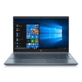 """HP - Pavilion - 15.6"""" Full HD Touchscreen Laptop - 10th Gen Intel Core i7 Processor - 8GB RAM + 32GB Intel Optane - 512GB Solid State Drive - Backlit Keyboard with Numeric Keypad - 2 Year Warranty Care Pack - Windows 10 Home (Fog Blue)"""