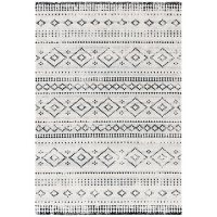 Montage Collection Rug - Gray and Ivory, 8' x 10'
