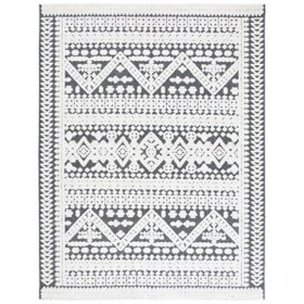 Cabana Collection Rug - Ivory and Gray, 8' x 10'