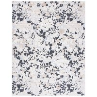 Cabana Collection Rug - Ivory and Charcoal, 8' x 10'