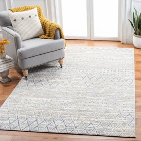 Martha Stewart Juan Area Rug - Cinder Grey/Canary, Assorted Sizes