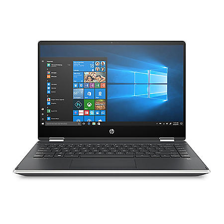 """HP Pavilion x360 14"""" FHD Touchscreen 2-in-1 Laptop - 10th Gen Intel Core i5-1035G1 - 8 GB Memory - 512 GB SSD - Backlit Keyboard - 2-Year Warranty Care Pack - Windows 10 Home - Natural Silver"""