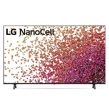 "LG 65"" Class 4K NanoCell Smart Ultra HD TV w/ThinQ AI - 65NANO75UPA"