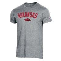 NCAA Men's Champion Short Sleeve Athletic Fit Crew Neck Tee Arkansas Razorbacks