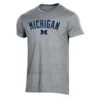 NCAA Men's Champion Short Sleeve Athletic Fit Crew Neck Tee Michigan Wolverines