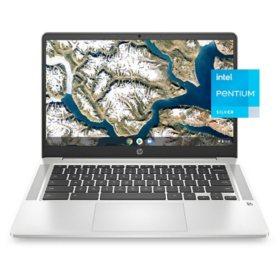 "HP 14"" Full HD Chromebook - Intel Pentium Silver N5030 - 4GB Memory / 64GB eMMC - 2nd Year Care Pack Warranty - Chrome OS"