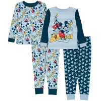 Licensed Mickey Mouse 4 Piece Cotton PJ Set