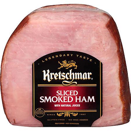 Kretschmar Sliced Smoked Quarter Ham (priced per pound)