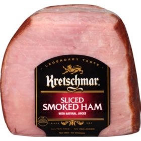 Kretschmar Sliced Smoked Quarter Ham (priced per pound)