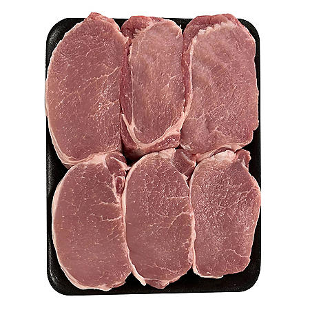 Member's Mark Pork Loin Boneless Chops, Tray (priced per pound)