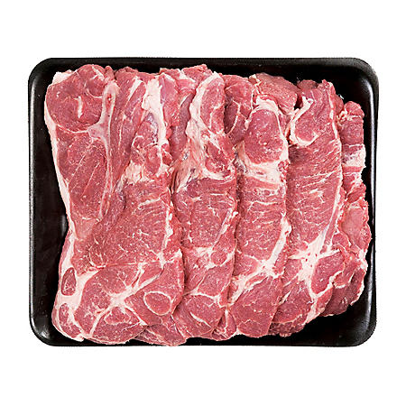 Member's Mark Bone-In Pork Shoulder Blade Steaks, Tray (priced per pound)