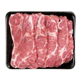 Member's Mark Pork Shoulder Blade Steaks Tray (priced per pound)