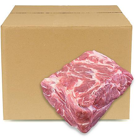 Member's Mark Bone-In Pork Boston Butt, Bulk Wholesale Case (priced per pound)